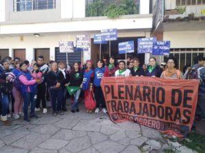 """Facebook """"Plenario De Trabajadoras Chaco"""" / Gentileza"""