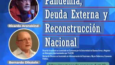 Photo of Aronskind y Dikstein: charla virtual sobre deuda externa y pandemia