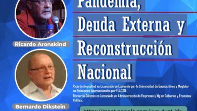 Photo of Aronskind y Dikstein: charla virtual sobre deuda externa y pandemia