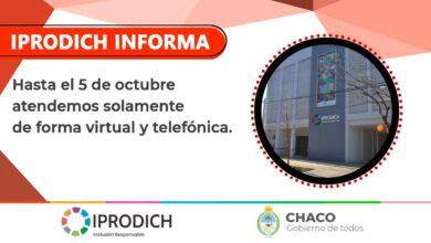 Photo of Por prevención, Iprodich no atenderá de forma presencial la semana próxima