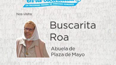 Photo of La abuela de Plaza de Mayo Buscarita Roa en «Radio Nacional» con la agrupación H.I.J.O.S. CHACO