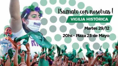 Photo of Vigilia verde para acompañar  el debate en el Senado