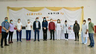 Photo of Salud Pública llevó un vacunatorio móvil contra covid-19 a Plaza
