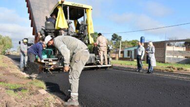 Photo of Fontana: avanza la obra de pavimento flexible en el barrio 100 Viviendas Floriani
