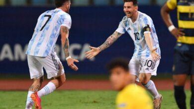 Photo of Copa América: Argentina ganó por 3 a 0 ante Ecuador y clasificó a semifinales