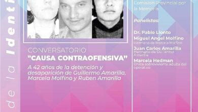 Photo of Conversatorio en memoria y homenaje a Marcela Molfino y a Guillermo y Rubén Amarilla