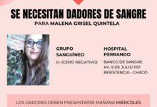 Photo of Se necesitan dadores de sangre 0- para una joven de La Escondida